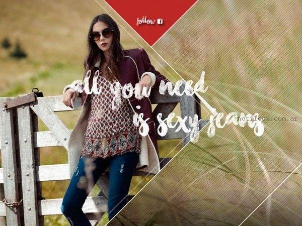 tapado de cuero  Kodo Jeans invierno 2016