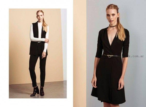 vestido corto con mangas de dia otoño invierno 2016 Estancias chiripa