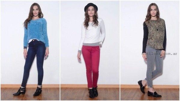 viga jeans de colores invierno 2016