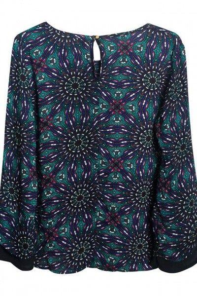 blusa estampada talles grandes  Syes invierno 2016
