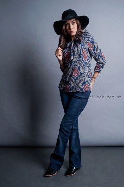 blusas con jeans orix invierno 2016