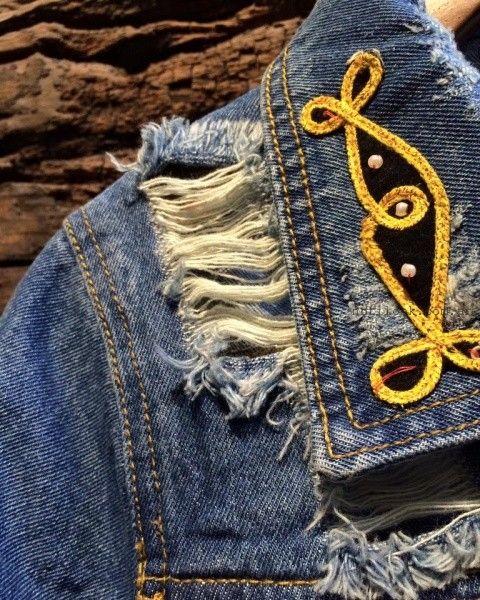 bordados en camperas de jeans Pago chico invierno 2016