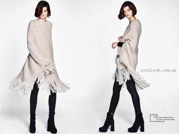 calza de lycra y saten  Etiqueta negra mujer invierno 2016