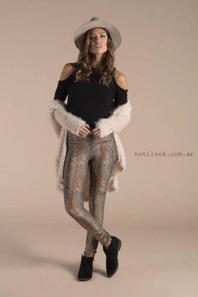 calza estampada cenizas invierno 2016
