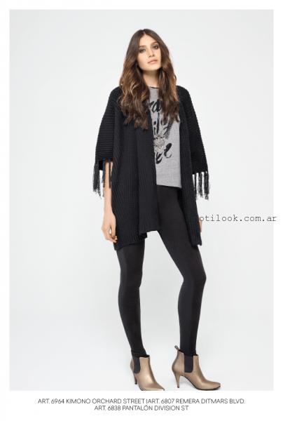 calza negra y capa tejida mab invierno 2016