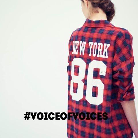 camisa escocesa con impresiones VOV JEANS invierno 2016