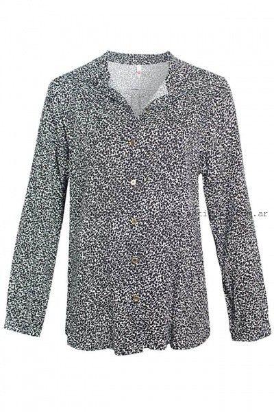 camisa estampada para mujer de fibrana  Syes invierno 2016