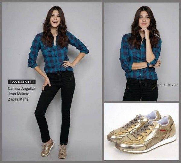 camisa leñadora  Taverniti jeans invierno 2016