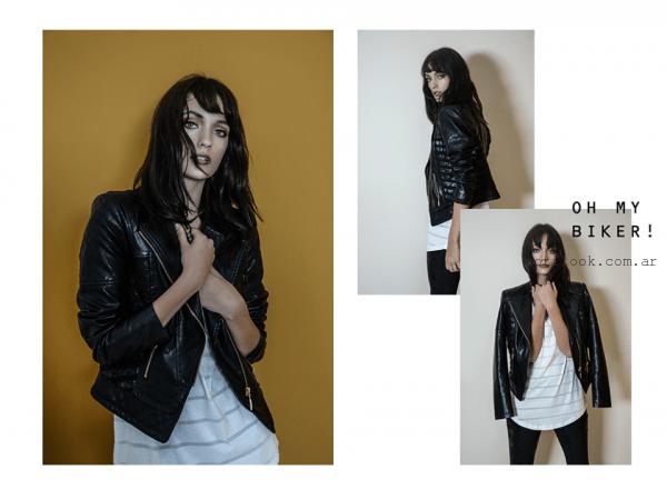 chaqueta de cuero mujer O'ASSIAN invierno 2016