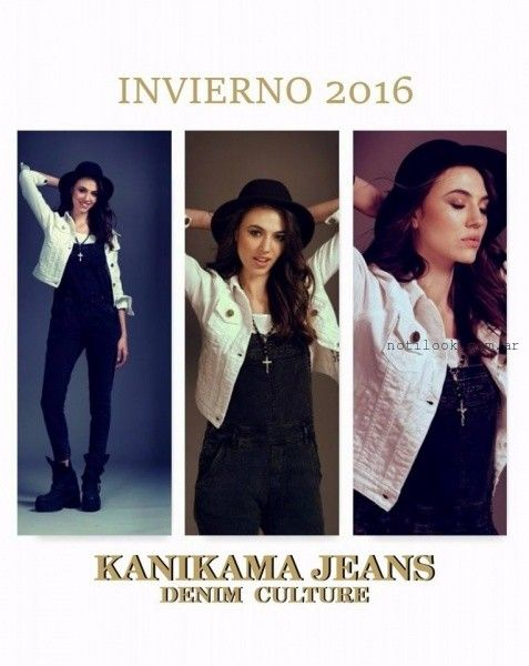 enterito jardinero Kanikama Jeans invierno 2016