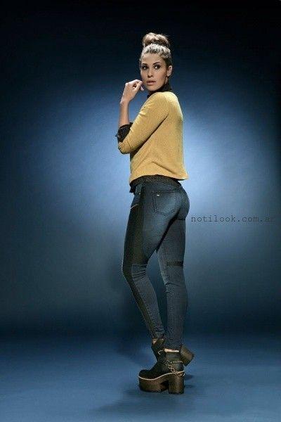 jeans  con recortes octanos jeans invierno 2016