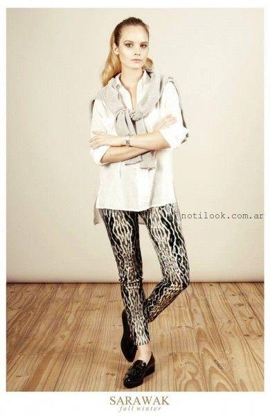 pantalon elastizado estampado SARAWAK invierno 2016