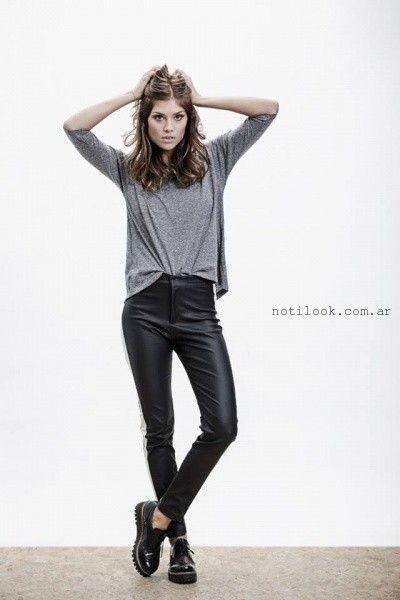 pantalon engomado negro Oshum invierno 2016