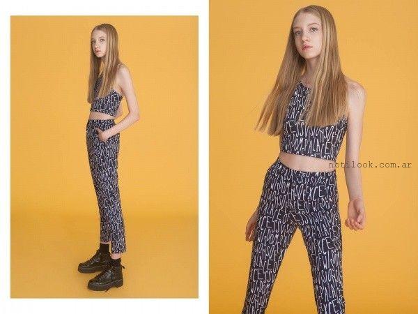 pantalones estampados juveniles yosy lovers invierno 2016