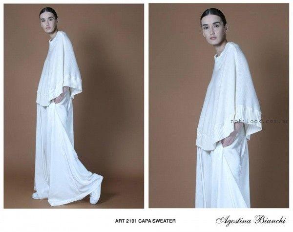 poncho de hilo Agostina bianchi tejidos invierno 2016