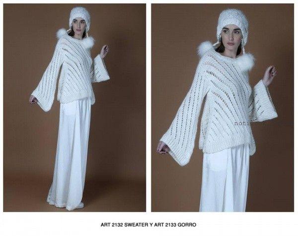 sweater calados Agostina bianchi tejidos invierno 2016