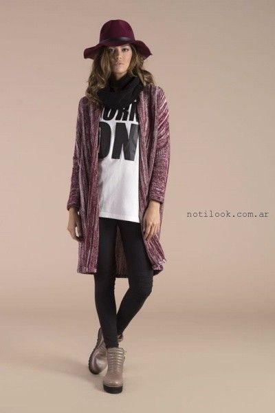 d11b8b4bd tapado largo tejido cenizas invierno 2016 – Moda Mujer Argentina