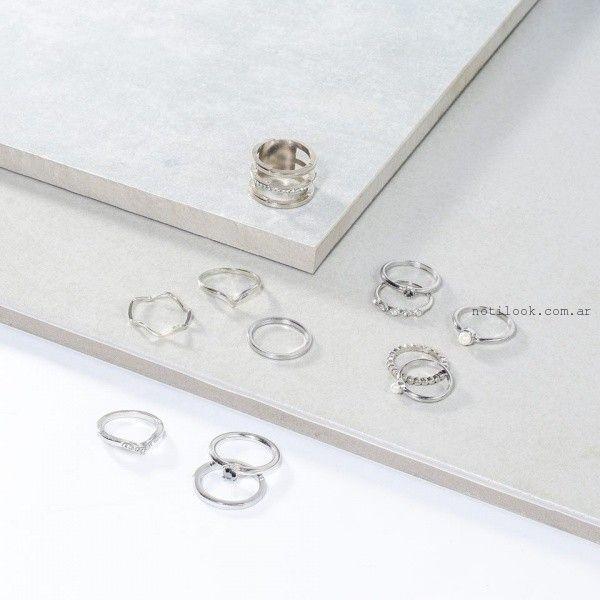 anillos de plata  Isadora otoño invierno 2016