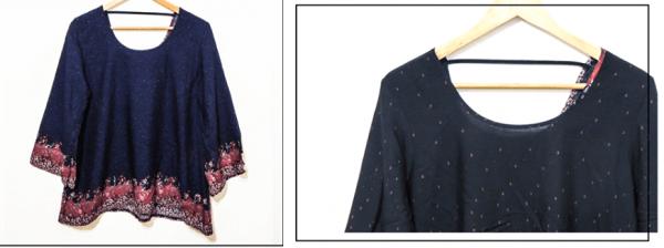 blusa con mangas oxford samaria invierno 2016