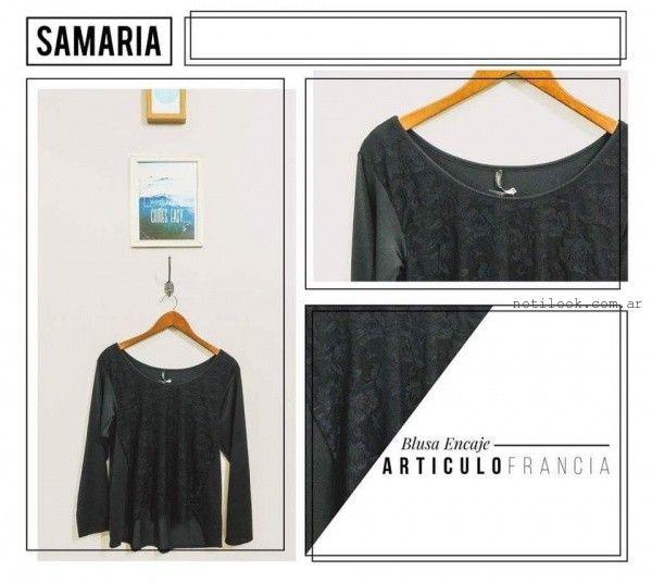 blusa de encaje samaria invierno 2016