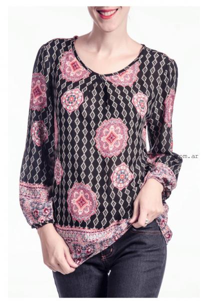 blusa de seda estampada NMD Normandie invierno 2016