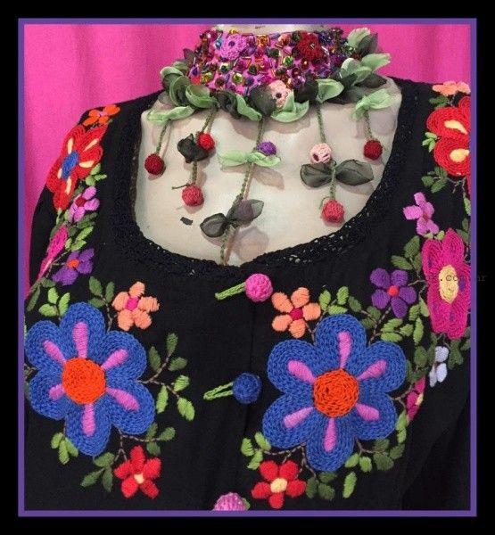 blusas con bordados artesanales Las Dumas invierno 2016