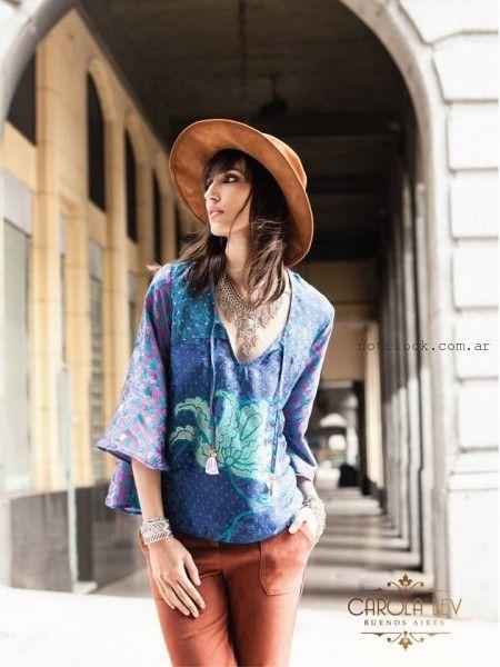 blusas con estilo bohemio Carola Lev invierno 2016