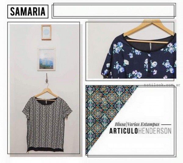 blusas de seda estampada samaria invierno 2016