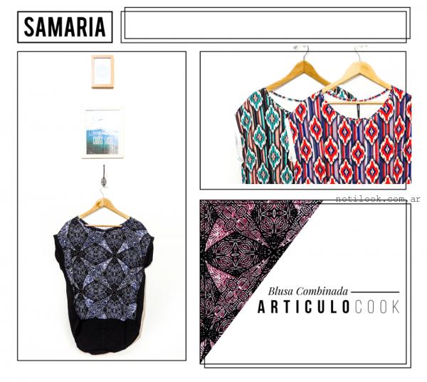 blusas estampadas samaria invierno 2016