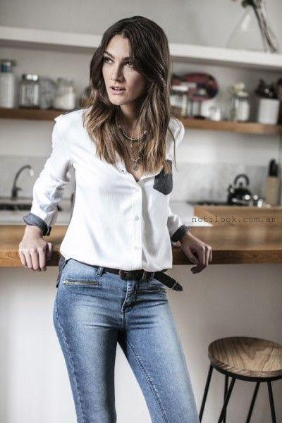 camisas con apliques engomados Wrangler mujer invierno 2016