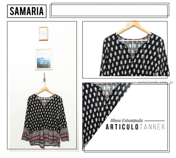 camisola estampada samaria invierno 2016