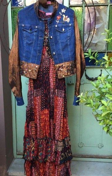 campera de jeans con apliques y bordados Las Dumas invierno 2016
