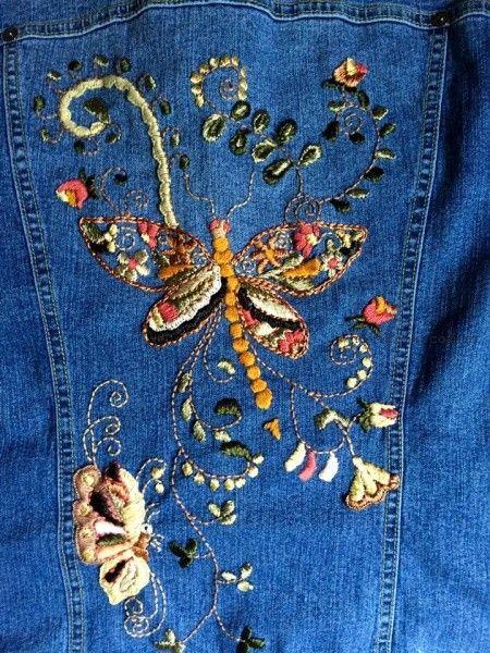 campera de jeans con bordado artesanal Las Dumas invierno 2016