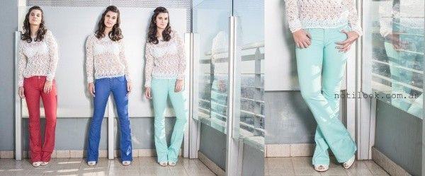 exclam jeans de colores otoño invierno 2016