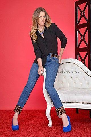 jeans con apliques animal print moravia jeans invierno 2016