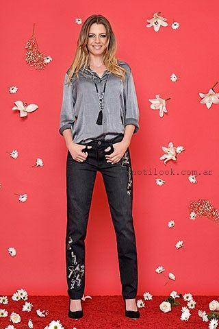 jeans con bordados moravia jeans invierno 2016