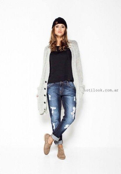 jeans reco con roturas Soulfly concept invierno 2016