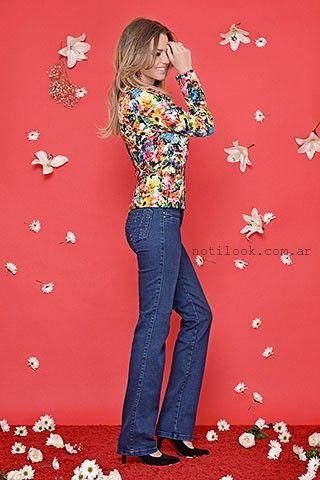 jeans rectos con bordados moravia jeans invierno 2016