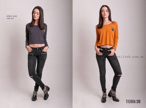look con jeans rotos Tierra 316 invierno 2016 Tierra 316