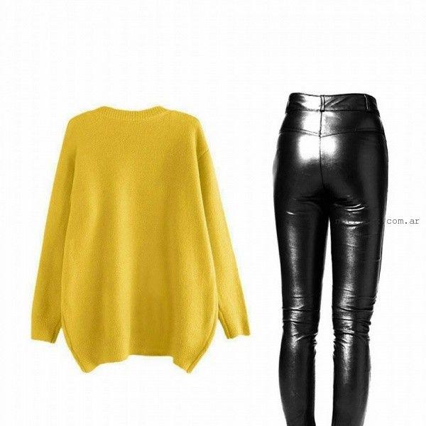 maxisweater con calza engomado estate atenta otoño invierno 2016
