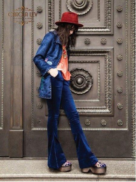 pantalon oxfor de corderoy Carola Lev invierno 2016