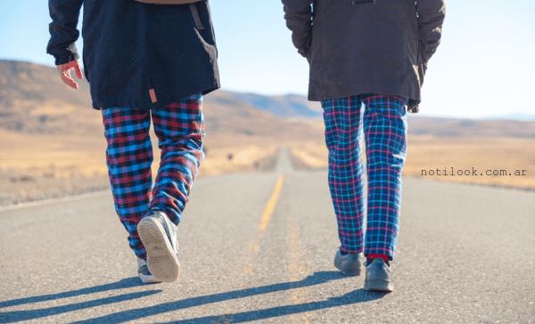 pantalones juveniles a cuadros invierno 2016 Elepants