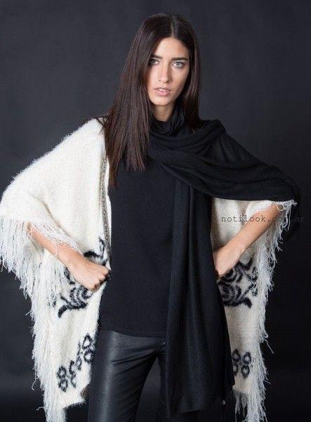 poncho tejido Marcela Pagella invierno 2016