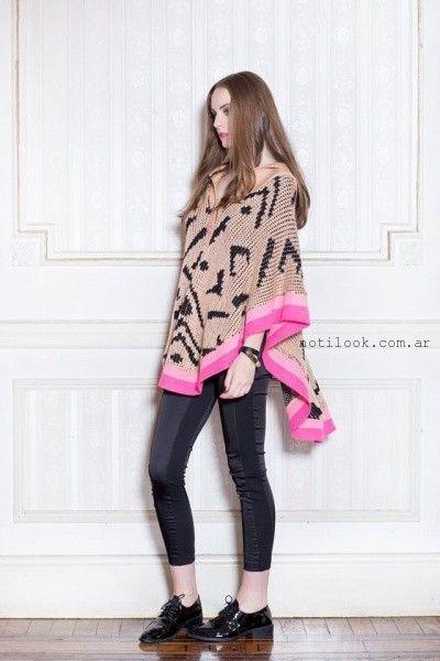 poncho tejido Millie invierno 2016