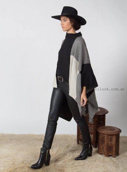 saco estilo kimono tejidos Marcela Pagella invierno 2016