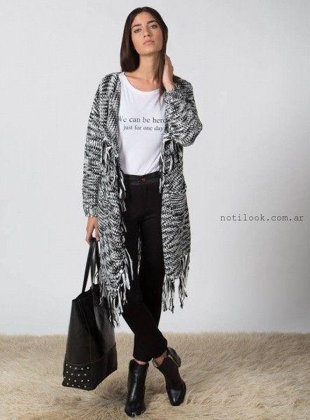 saco largo tejido Marcela Pagella invierno 2016