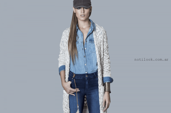 b97318322 saco largo tejido a crochet Wings invierno 2016 – Moda Mujer Argentina