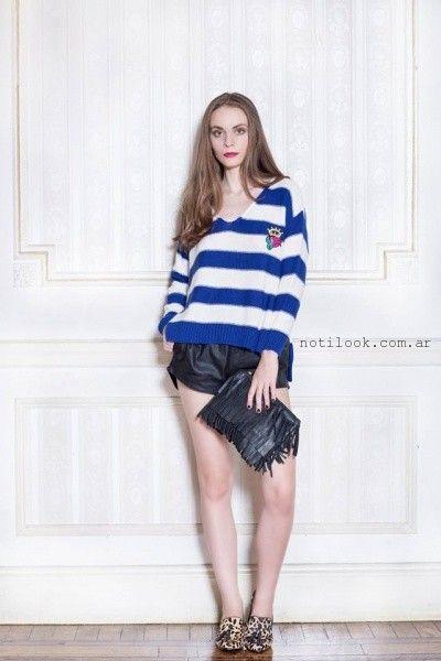sweater a rayas invierno 2016