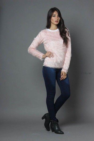 sweater simil piel sintetica Moda destino invierno 2016