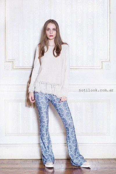 sweater tejidos con flecos Millie invierno 2016